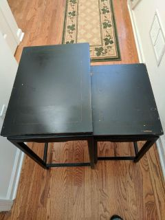 Two black nesting tables (also available separately)