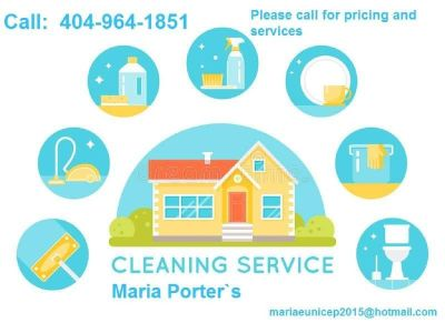 404-964-1851- Maria for your house cleaning services Fully clean!