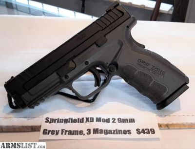 For Sale: NEW Springfield XD Mod 2 9mm, Grey Frame & 3 Magazines