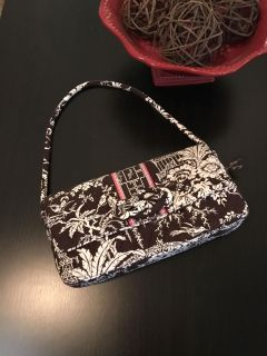 Vera Bradley purse (can also tuck strap inside to carry as a clutch) - Excellent condition - POMS