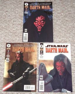 Extremely RARE Star Wars Darth Maul Comic Books Lot of 3 1, 2, and 3. 2000