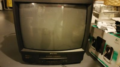 "REDUCED!! SANSUI 19"" TV WITH VCR"
