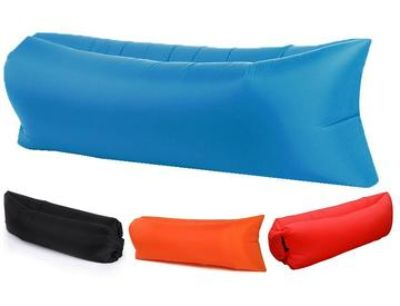 Air lounger inflatable portable air chair bed with carry bag