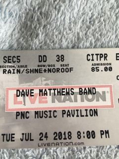 Two Dave Matthew Band Tickets