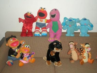 Retro plush toy characters