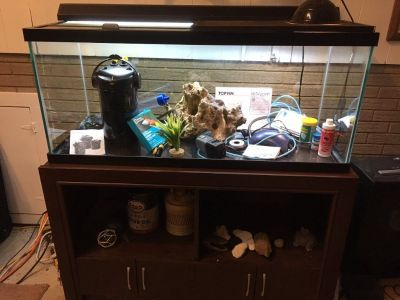 70 gallon fish tank with stand