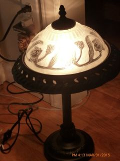 Top glass side table lamp