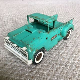 Vintage 1950s Buddy L Camper Pickup Truck w/ Original Paint and Parts