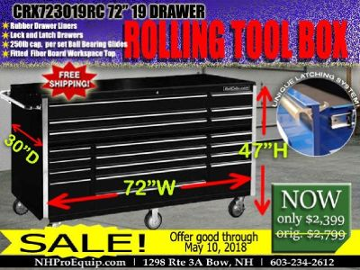 "CRX723019RC 72"" 19 DRAWER ROLLING TOOL BOX"