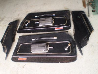 1972 72 FACTORY GTO LeMans Sport Front REAR Door Panels OEM 455 400 PONTIAC