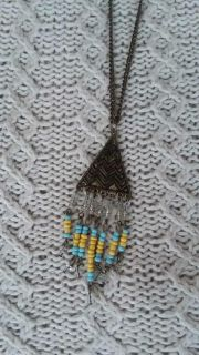 Long chain metal beaded accentsnecklace
