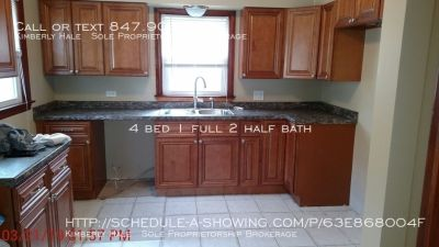 4 bed just rehabbed! Walkable to Park & Ride at I-90 and 25