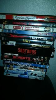 Movies! Selling for .75 cents each