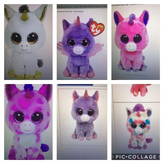 Looking for these TY beanie boos in small or med size
