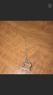 Sterling Silver Brand New Texas Necklace