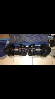 Bowflex 1090 dumbbells weights stand & 4.1 bench $750 will separate