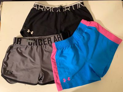 3 pair of Under Armour shorts