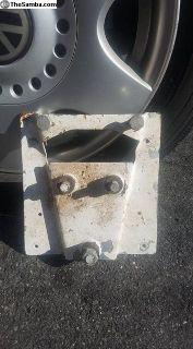 bus spare tire mount bracket