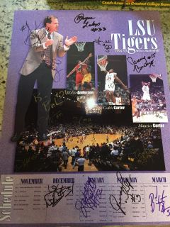 1998-99 LSU Basketball Team Signed Poster! 18 Signatures! Stromile Swift! Jabari Smith!