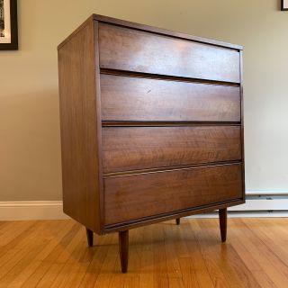 Mid Century Walnut Dresser Credenza Cabinet
