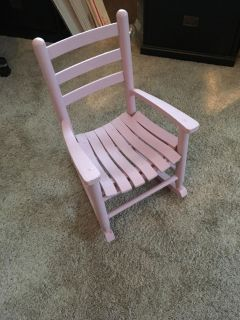 Toddlers rocking chair wood.