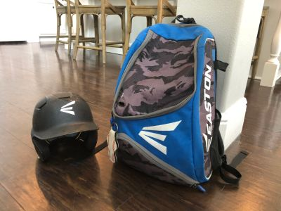 Easton bat bag for baseball and helmet