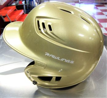 Gold Rawlings Batting Helmet