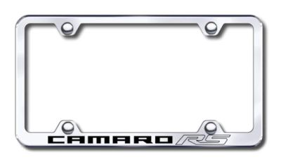 Find GM Camaro RS Wide Body Engraved Chrome License Plate Frame Made in USA Genuine motorcycle in San Tan Valley, Arizona, US, for US $30.98