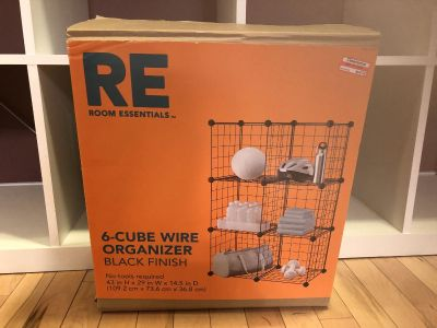 NWT 6 cube wire organizer Selling today going to donation pile tomorrow