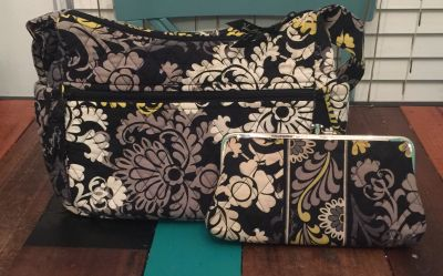 Vera Bradley Purse and Matching Large Wallet