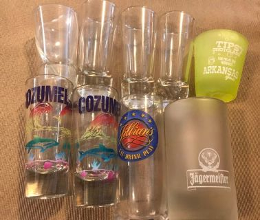 9 Shot Glasses