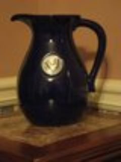 Cobalt/Pewter Rooster Pitcher