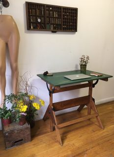 Vintage Drafting Table/ Antique Work Table/ Desk