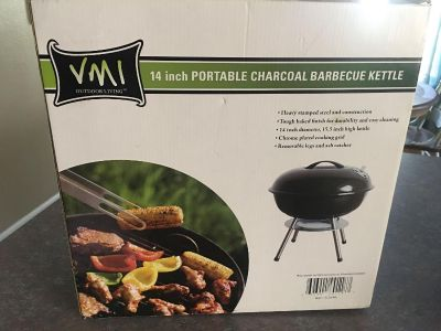 NEW! Portable Charcoal BBQ Grill