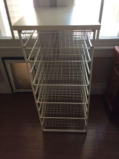 6 drawer Elfa storage unit from Container Store-19 wide, 23 deep, 41-1/2 tall-retails for $150+