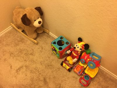 Plush Rocking Puppy and Toy Lot