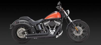 Sell VANCE HINES BLACK BIG SHOTS STAGGERED 4 HARLEY DAVIDSON SOFTAIL FXST FLST 2012 motorcycle in Gambrills, Maryland, US, for US $634.44