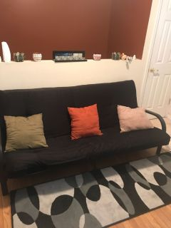 Black colored Futon for sale!!