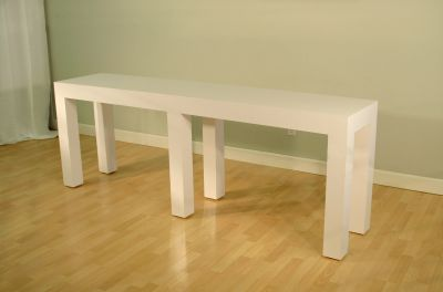 White Colorcore Console Table