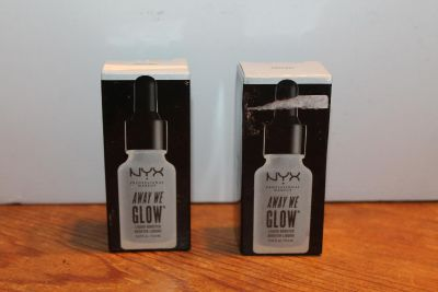 $8 each or 2 for $12 NYX Away We Glow AWGLB01, have 2