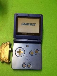 Game boy advance blue