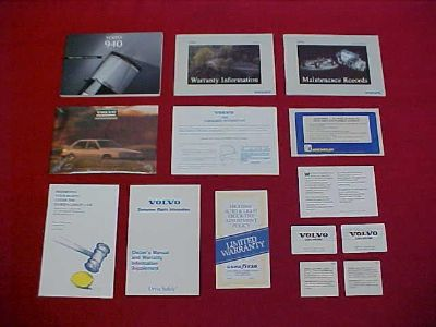 Purchase 1994 VOLVO 940 ORIGINAL OWNERS MANUAL SERVICE GUIDE KIT BOOK 94 GLOVEBOX FACTORY motorcycle in Leo, Indiana, US, for US $24.99