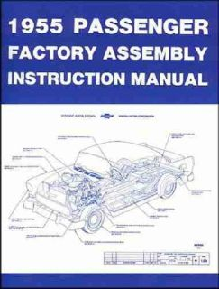 Purchase 55 CHEVY FACTORY TYPE ASSEMBLY MANUAL BOOK COMPLETE 1955 motorcycle in Canoga Park, California, US, for US $19.95