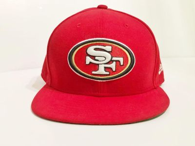 49 ers 7 5/8 new era hat slightly used in good condition.