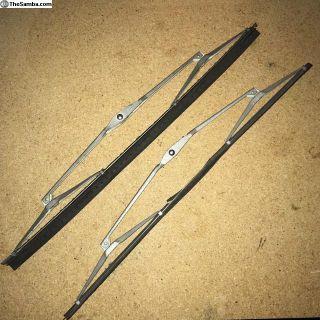 Vintage German SWF 13 Wiper Blade Arms Pair