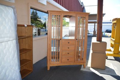 Mission Oak China Hutch