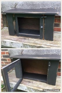 Primitive Wood Cabinet, hooks on the back to hang, perfect condition, **READ PICK-UP DETAILS BELOW