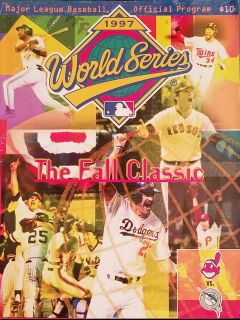 1997 World Series Major League Baseball Official Program