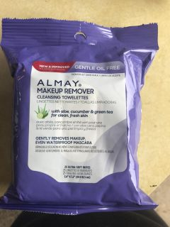 Almay Makeup remover wipes - new and unopened Cross posted