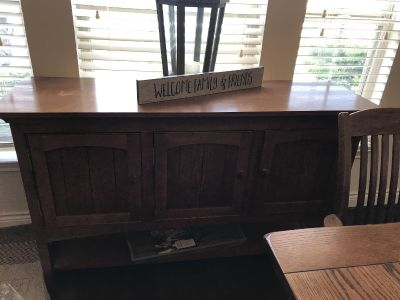 Mission Table and Sideboard